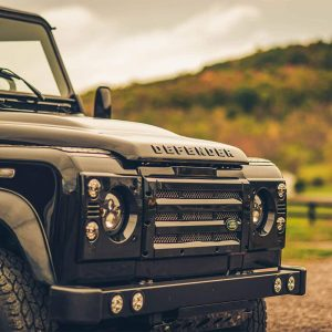 Land Rover Defender Grill and Headlights