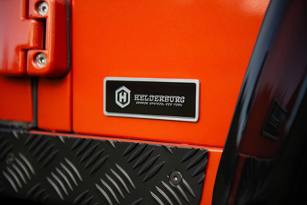 Land Rover Defender D90 Soft Top: Exterior Detail Helderburg Insignia