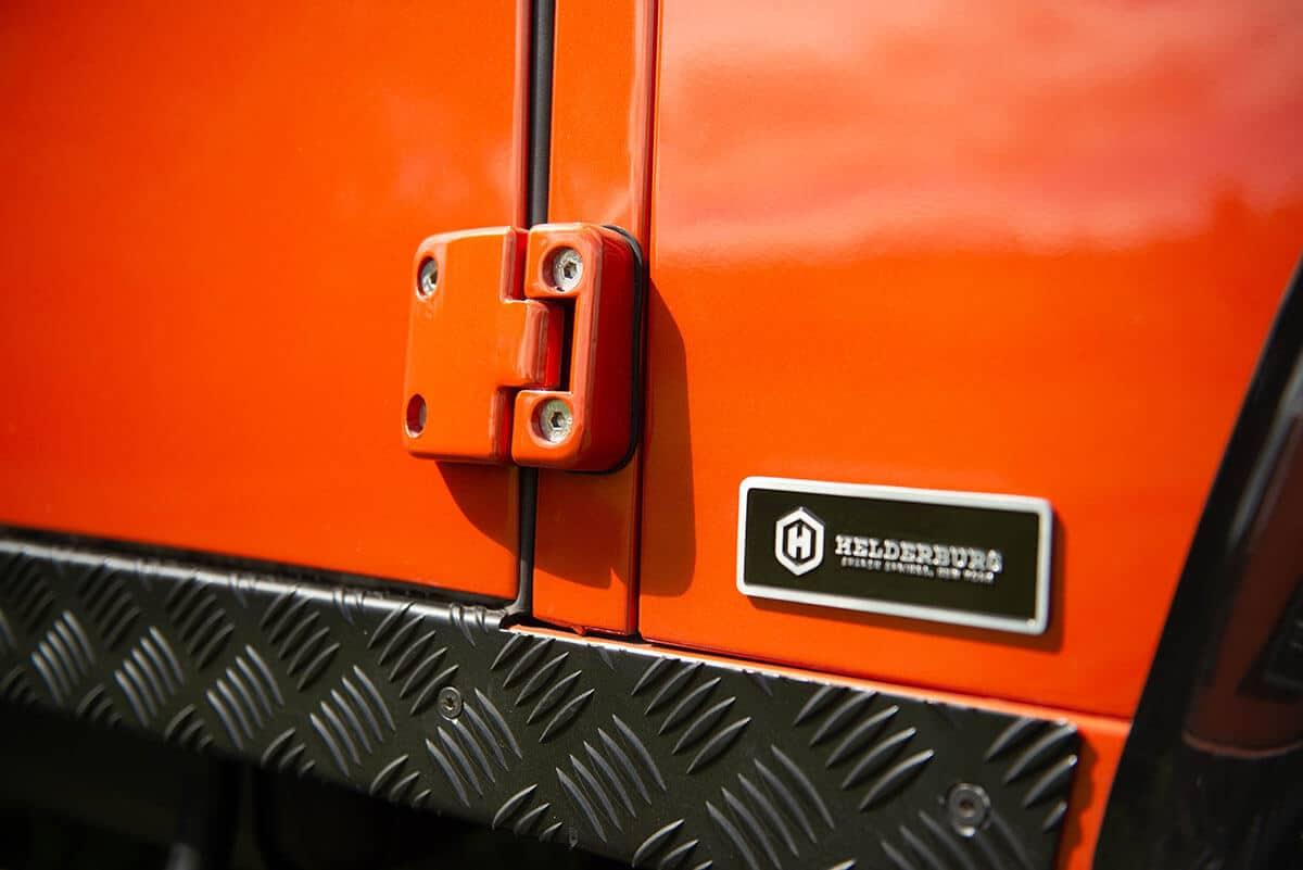 Land Rover Defender D90 Soft Top: Exterior Detail Hinge