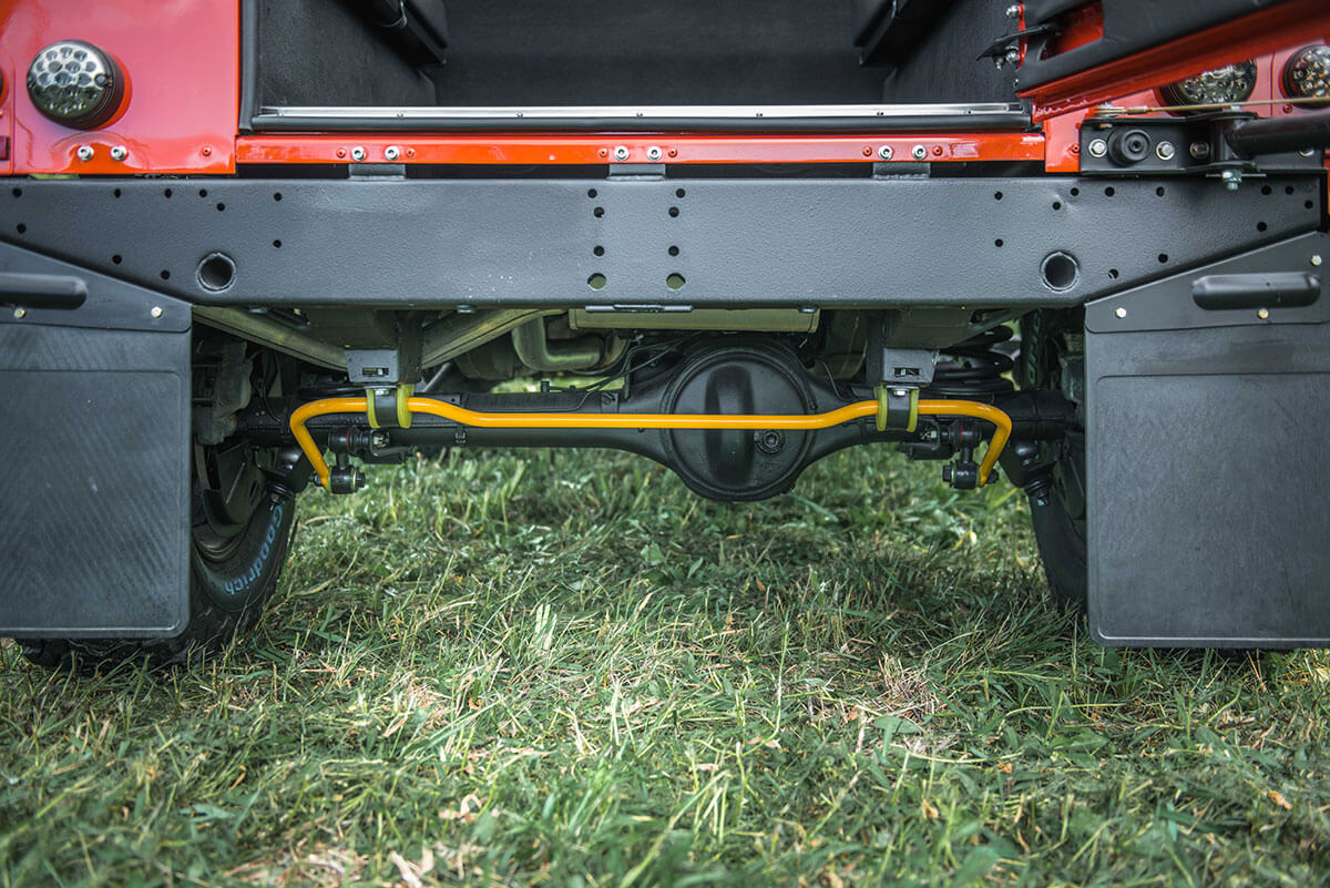 Land Rover Defender D90 Soft Top: Exterior Detail Undercarriage