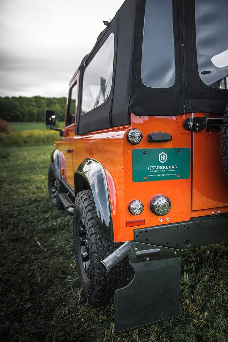 Land Rover Defender D90 Soft Top: Exterior Rear View Partial