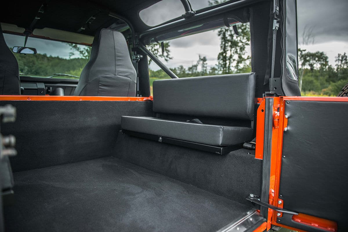 Land Rover Defender D90 Soft Top: Interior Rear View