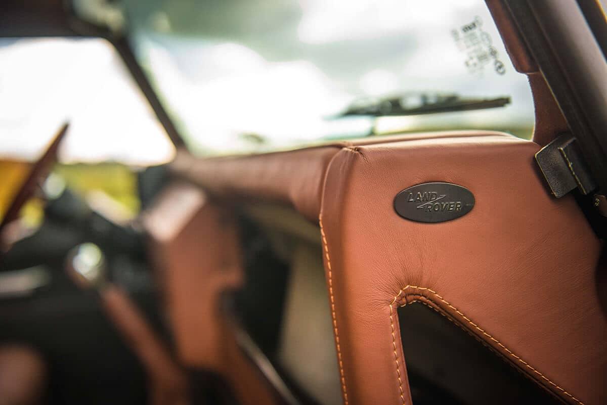 Land Rover Defender D90: Interior Detail Leather Dash