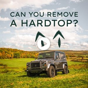 Can you take the hard top off a Defender?