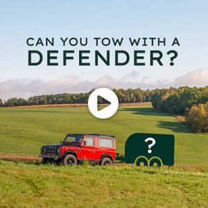 Can you tow with a boat or RV with a Defender?