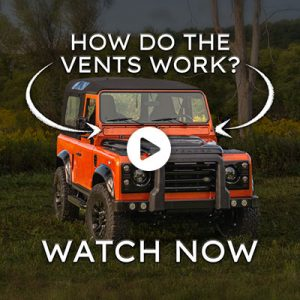 What do the vents do on a Defender?