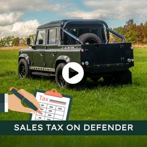 Sales Tax on a Land Rover Defender