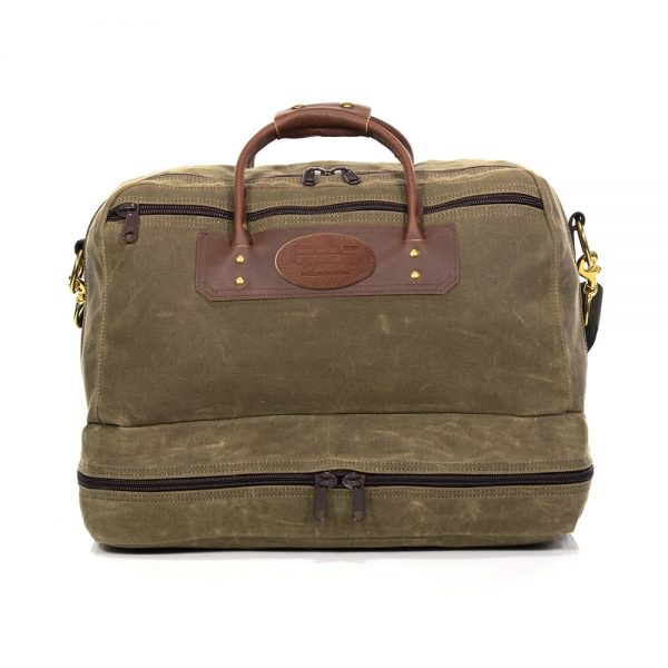 Boot Bag with Leather D110 Defender Patch