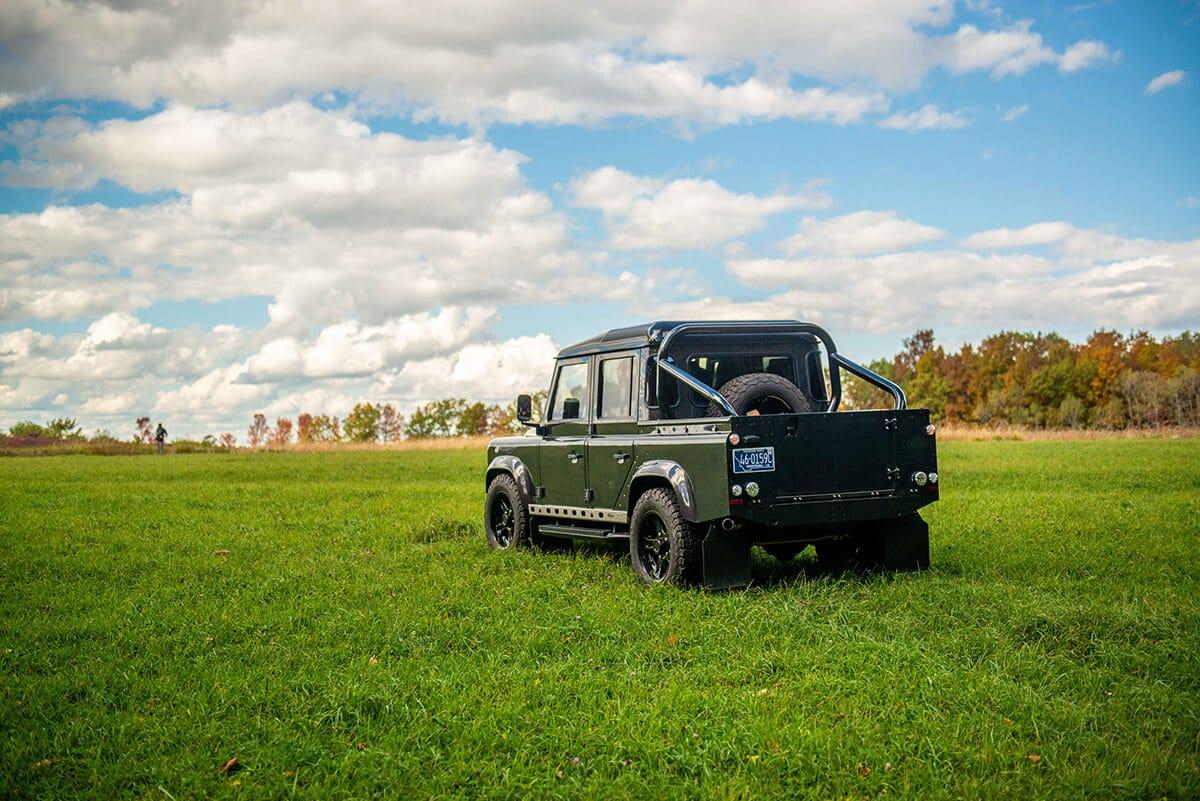 Land Rover Defender D110 Double Cab Bowler Bulldog: Exterior Rear 3/4 View