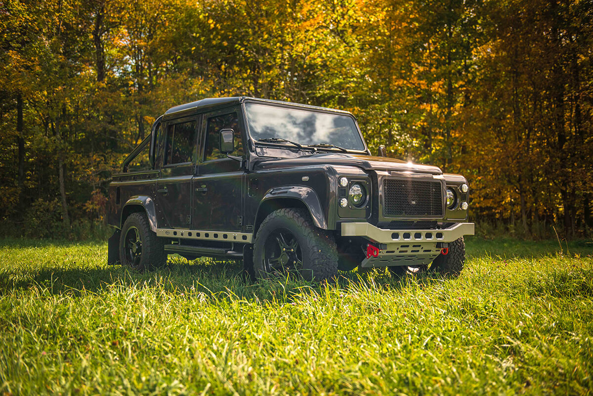 """The term we hear most often to describe a Helderburg Bespoke Defender is """"It's a piece of art"""". We also hear """"The pictures and videos don't do the Defenders justice, they are even better in person"""". So we encourage you to visit the Helderburg Farm in Sharon Springs, NY and see a Helderburg in person. Send this image to friend and say let's go see a Helderburg in Sharon Springs, NY."""