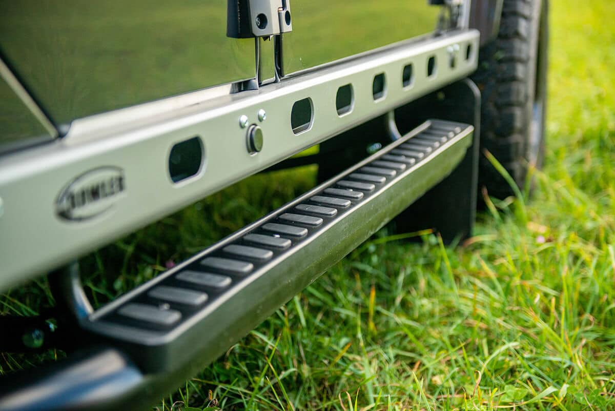 Land Rover Defender D110 Double Cab Bowler Bulldog: Exterior Detail Side Sil and Stepup Bar