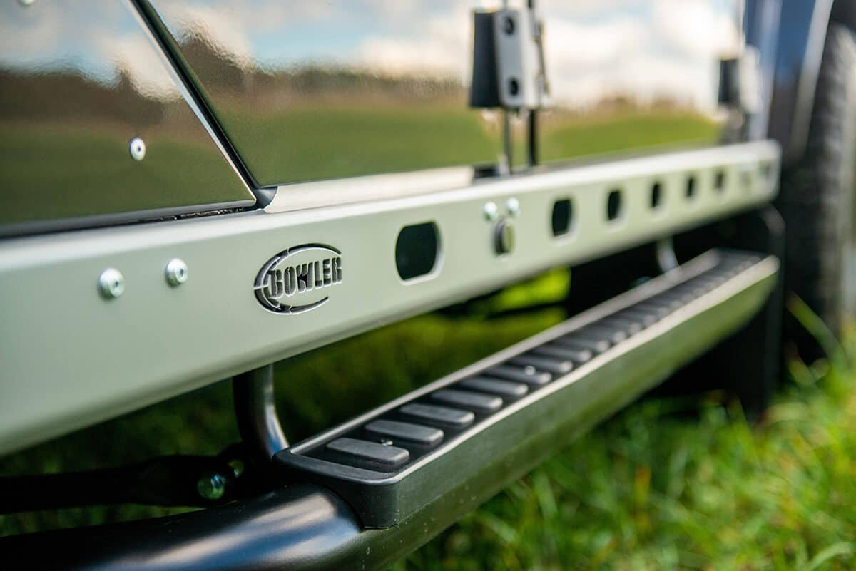 Land Rover Defender D110 Double Cab Bowler Bulldog: Exterior Detail Bowler Sideboard