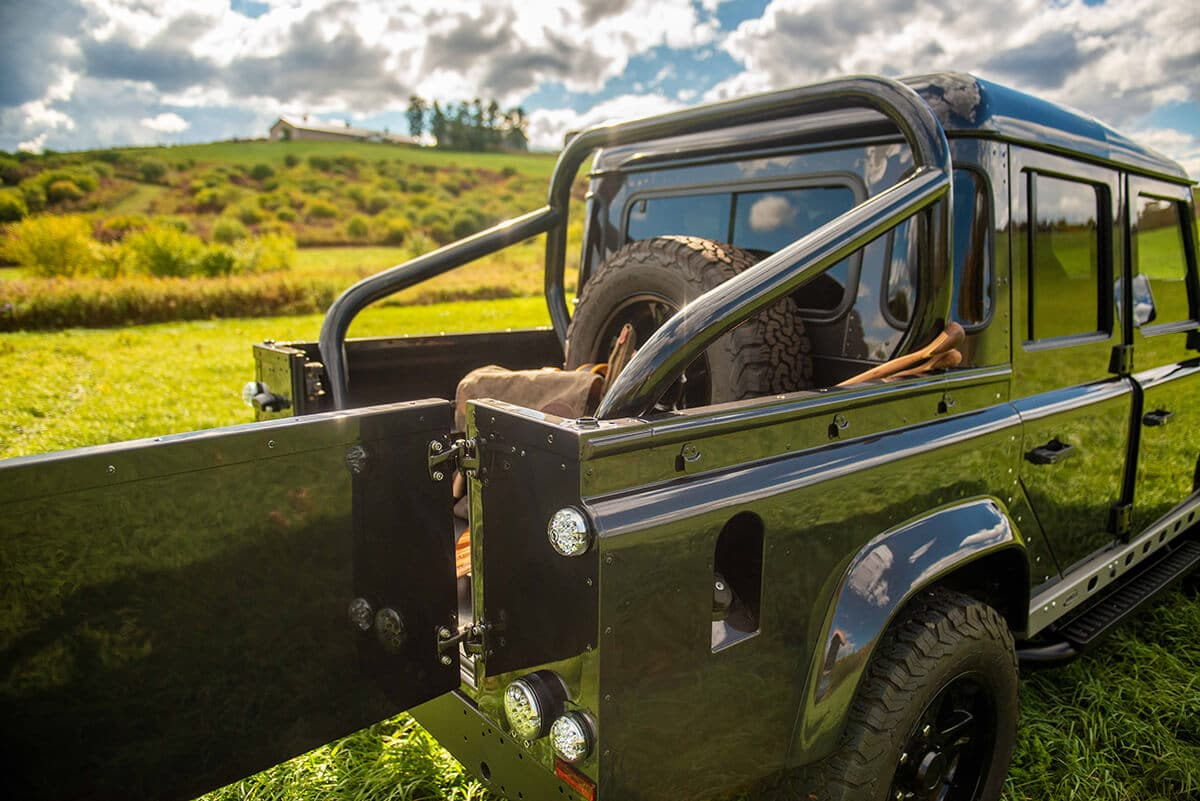 Land Rover Defender D110 Double Cab Bowler Bulldog: Exterior Rear with Open Gate