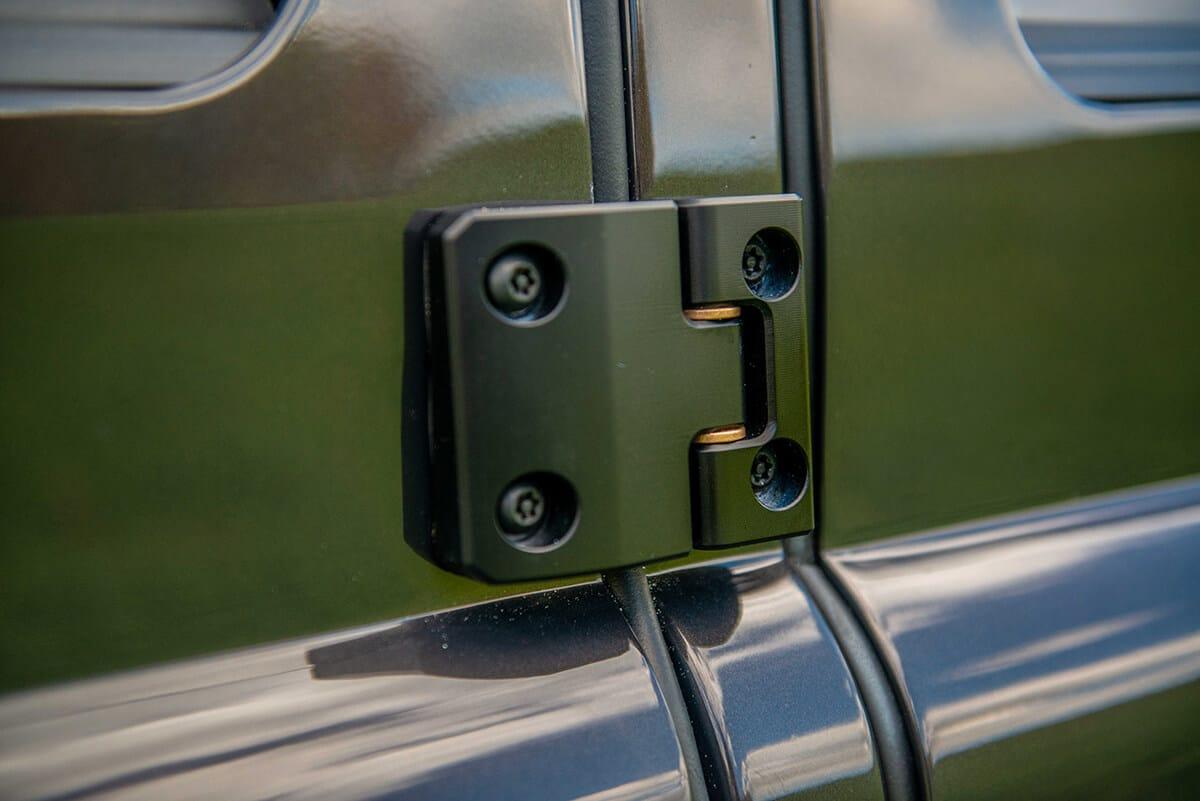 Land Rover Defender D110 Double Cab Bowler Bulldog: Exterior Detail Hinge