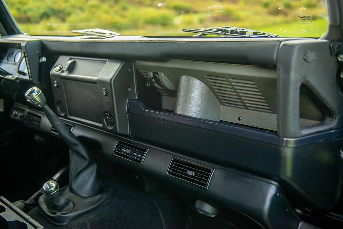 Land Rover Defender D110 Double Cab Bowler Bulldog: Interior Detail Dashboard