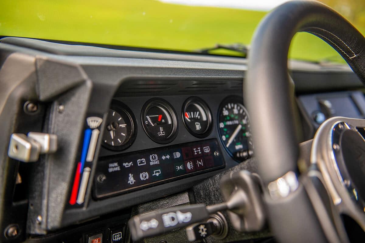 Land Rover Defender D110 Double Cab Bowler Bulldog: Interior Detail Gauges