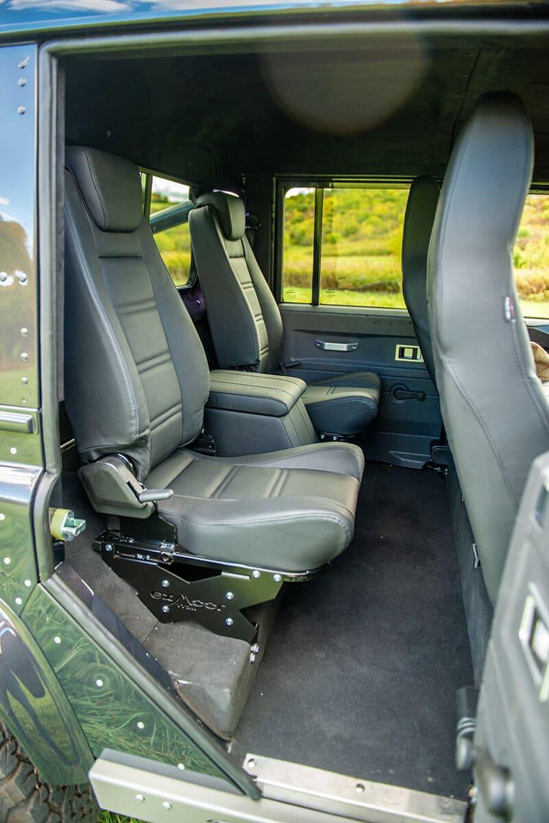Land Rover Defender D110 Double Cab Bowler Bulldog: Interior Back Seats