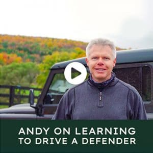 Andy on Learning to Drive a Defender