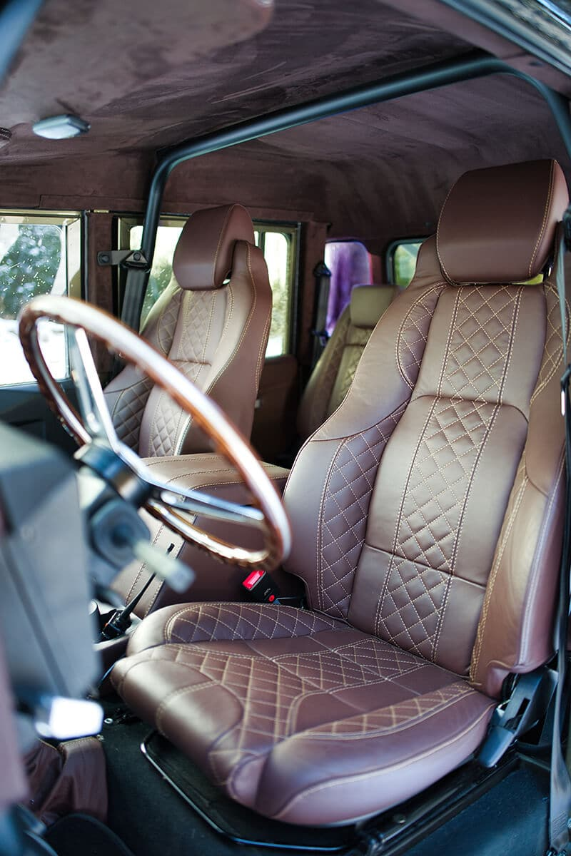 Land Rover Defender D130 Interior: Bespoke Leather