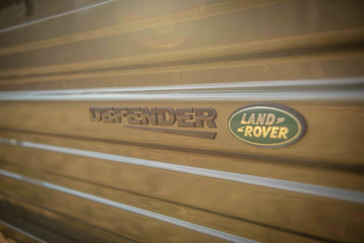 Land Rover Defender D130 Exterior: Rear Insignia