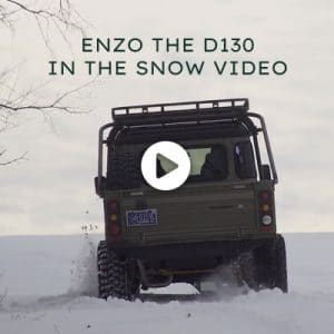 Enzo the D130 in the Snow