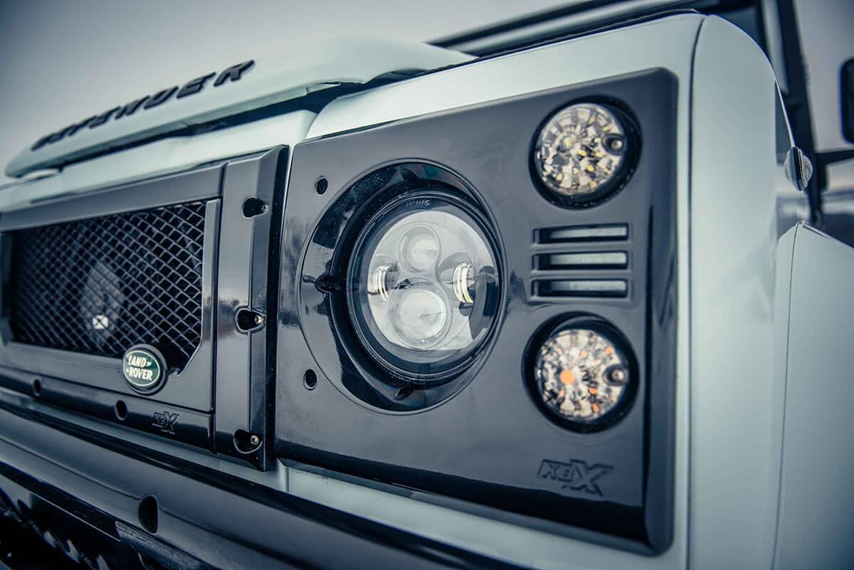 Arctic Package Helderburg Land Rover Defender D90: Grille and Headlights