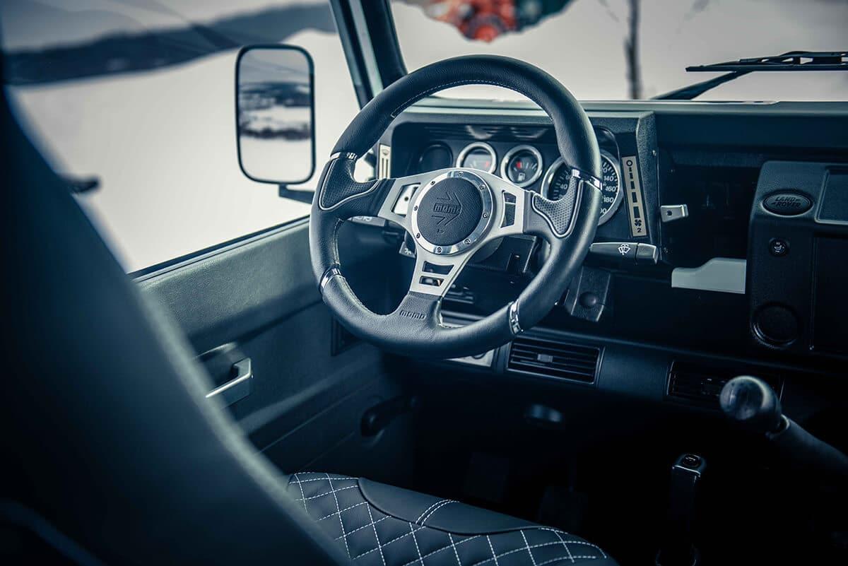 Arctic Package Helderburg Land Rover Defender D90: Interior Detail