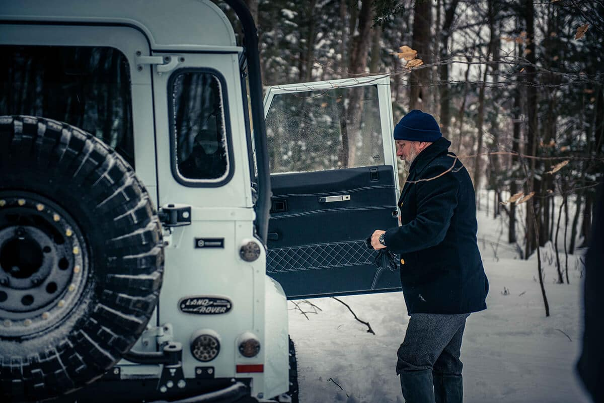 Arctic Package Helderburg Land Rover Defender D90: Interior Door Detail