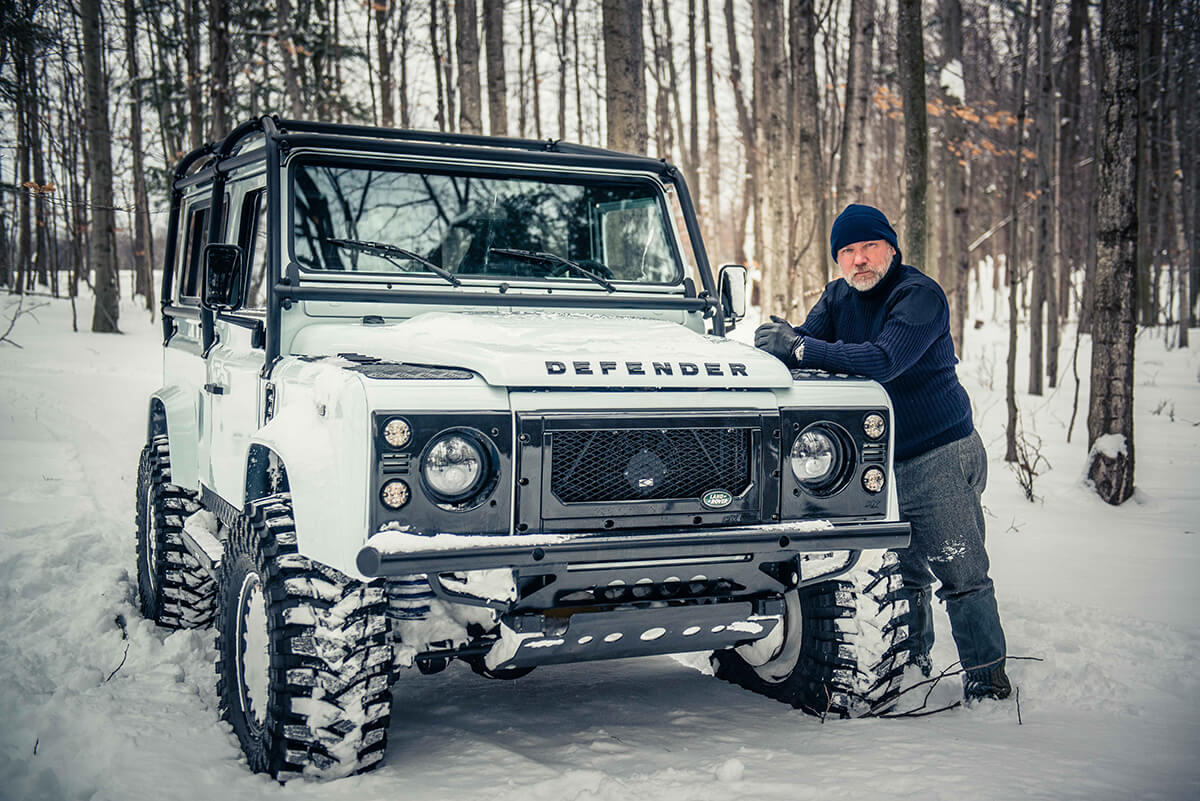 Arctic Package Helderburg Land Rover Defender D90: Exterior