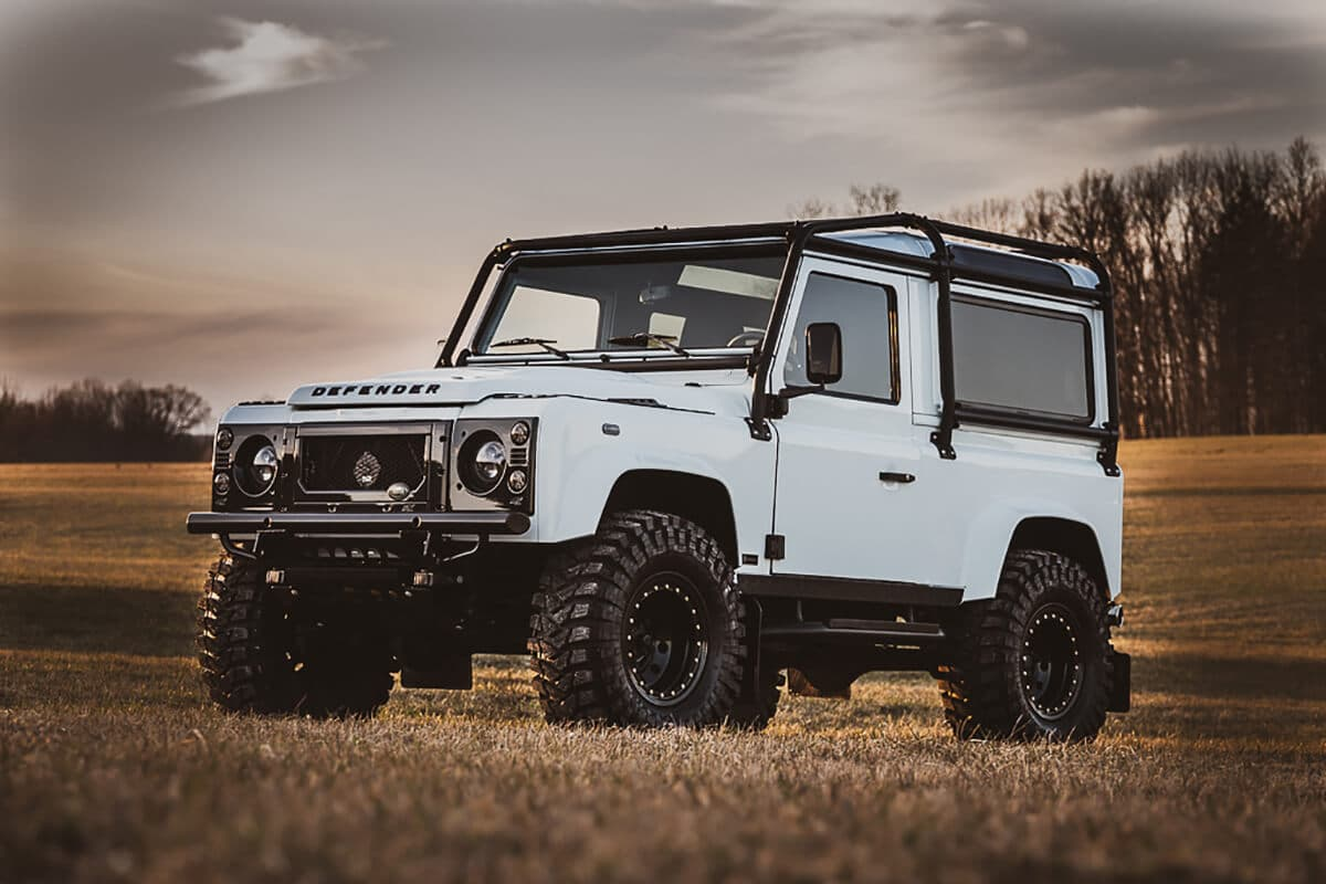 The lighting on a Helderburg Bespoke Defender (custom built Defender) is modern LED technology that will light the darkest roads and the light beam pattern is wide to see animals or pedestrians on the shoulder...without blinding on-coming traffic.