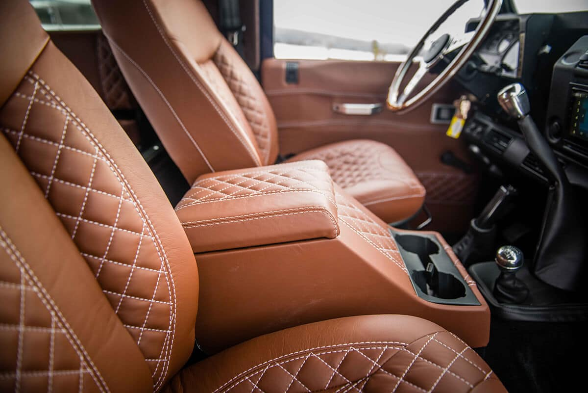 The interior options are vast with over 400 Bespoke Design choices of materials to pick from. Do you prefer quilted or basket weave patterns? Send this image to a friend and get their opinion.