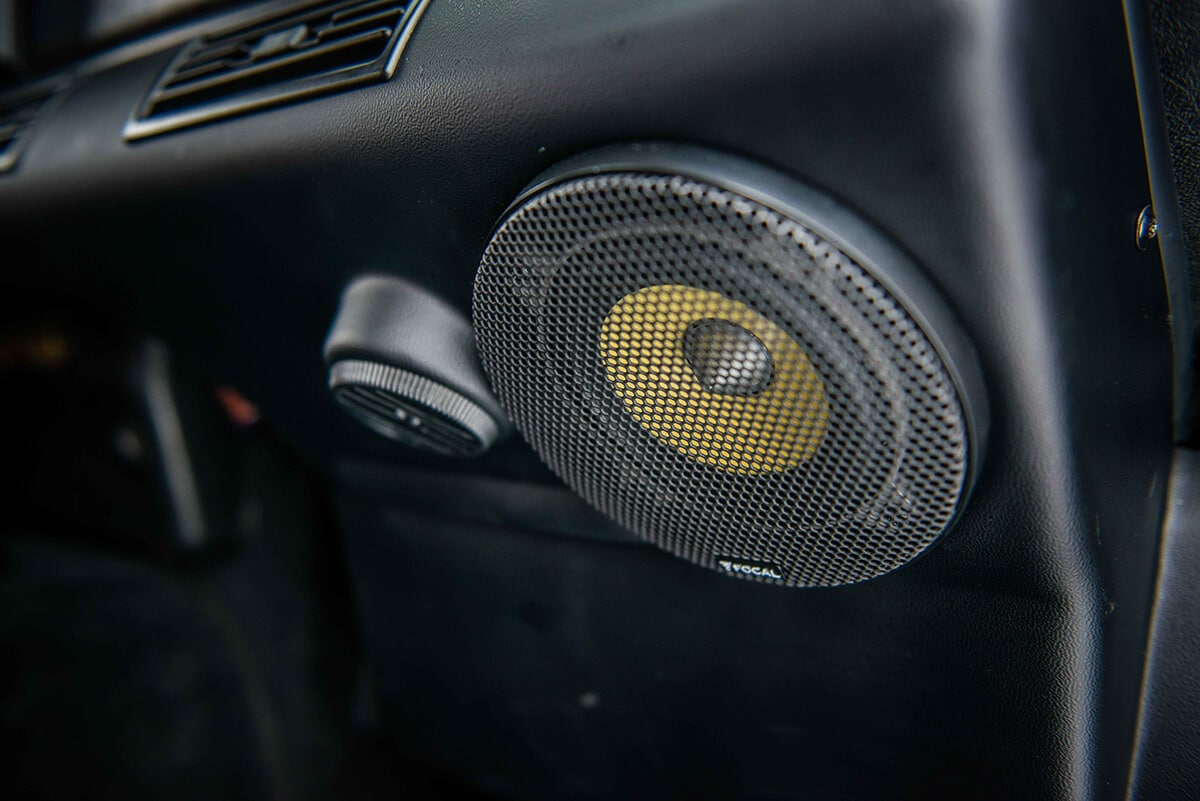Land Rover Defender D90: Focal Component Audio with JL Audio 500 Watt Amplifier and JL Audio Subwoofer