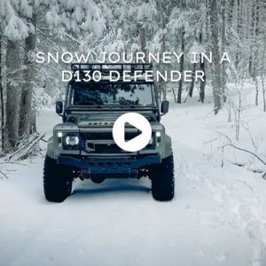 Snow Journey in a D130 Defender