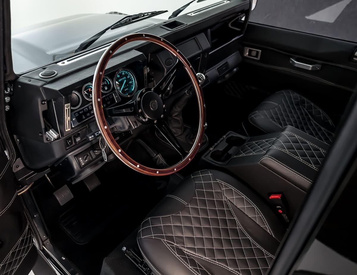 Walnut and Black Spoke Bespoke Made Steering Wheel