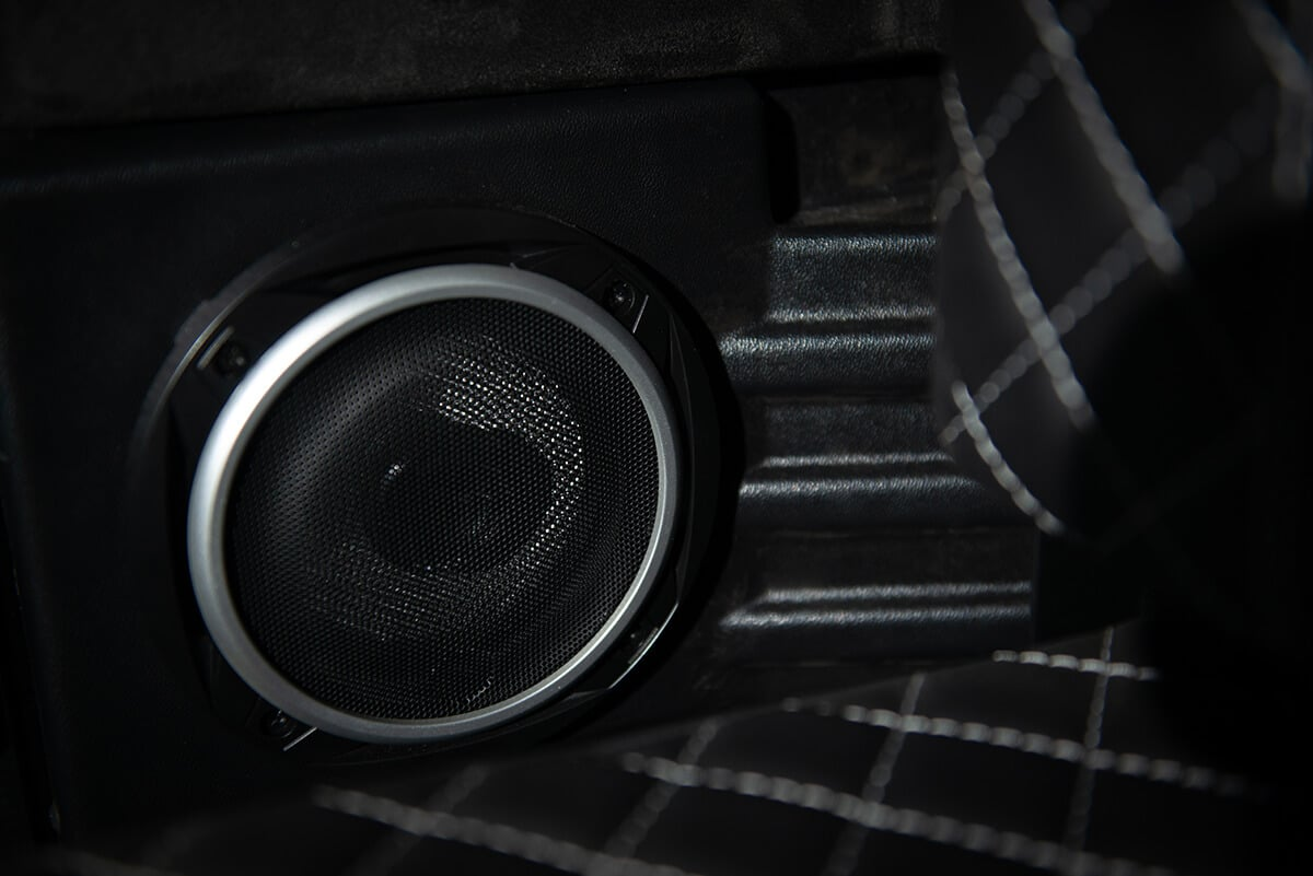 Performance Tuned Land Rover Defender D90: Interior Detail View