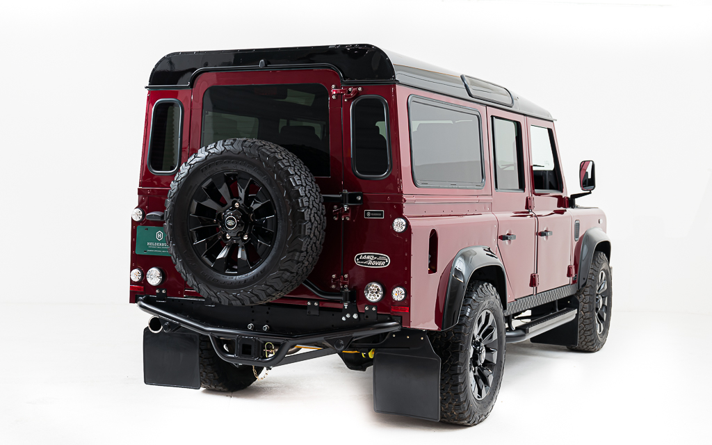 Created for regular use on the road on the highway or in the city. It's unique but practical and completely hand built to exacting standards. Every Helderburg Defender is a rare one of a kind.