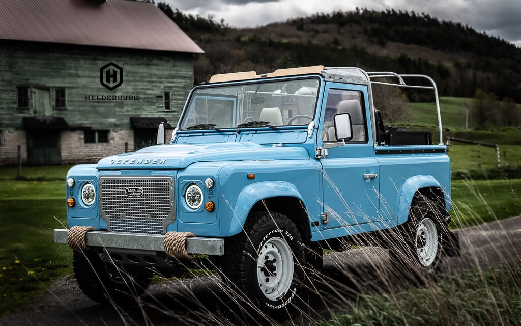 The Bespoke Helderburg Program is a turnkey process. You decide on the model D90 3 door, D110 4 Door or D130 Pickup and we take it from there. We have an inventory of Defenders ready for restoration. Deposit is 50% to reserve your build slot and secure your Defender and build time is approx 12 months.