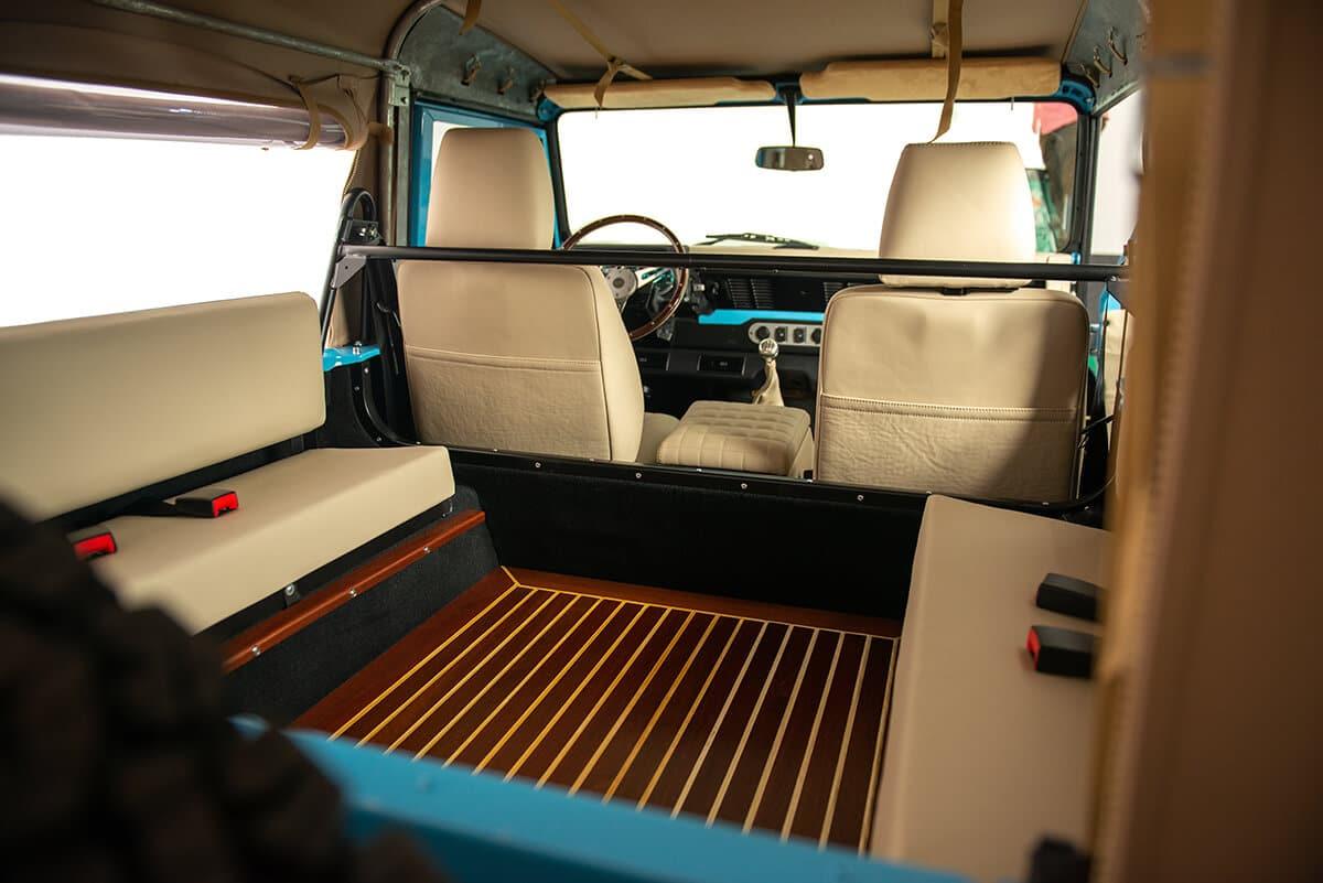 Helderburg Land Rover Defender D90 Interior Wood Floor