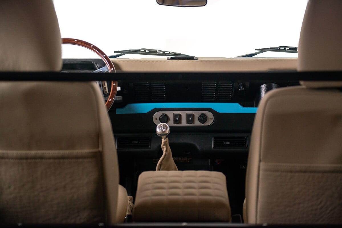 Helderburg Land Rover Defender D90 Bespoke Leather Interior