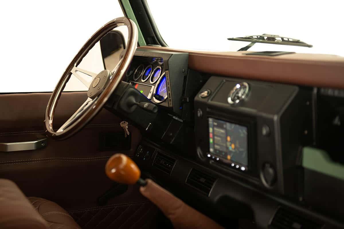 Helderburg D90 Soft Top Defender Interior Detail
