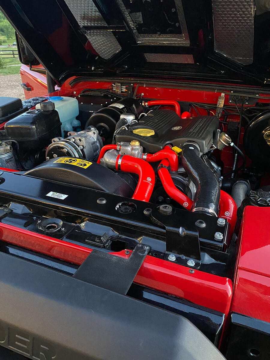 Helderburg Land Rover Defender D110 Engine