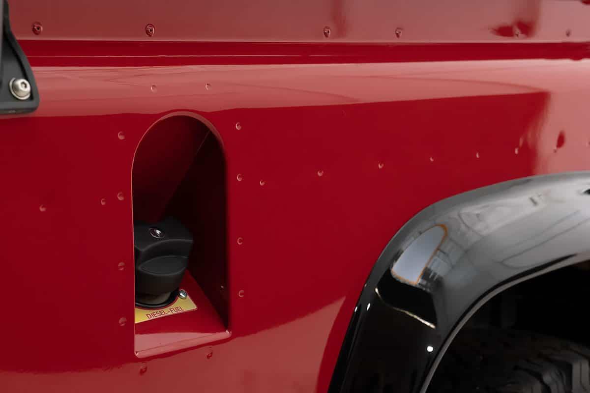 Helderburg Land Rover Defender D110 - Exterior Detail: Rivets and Fuel