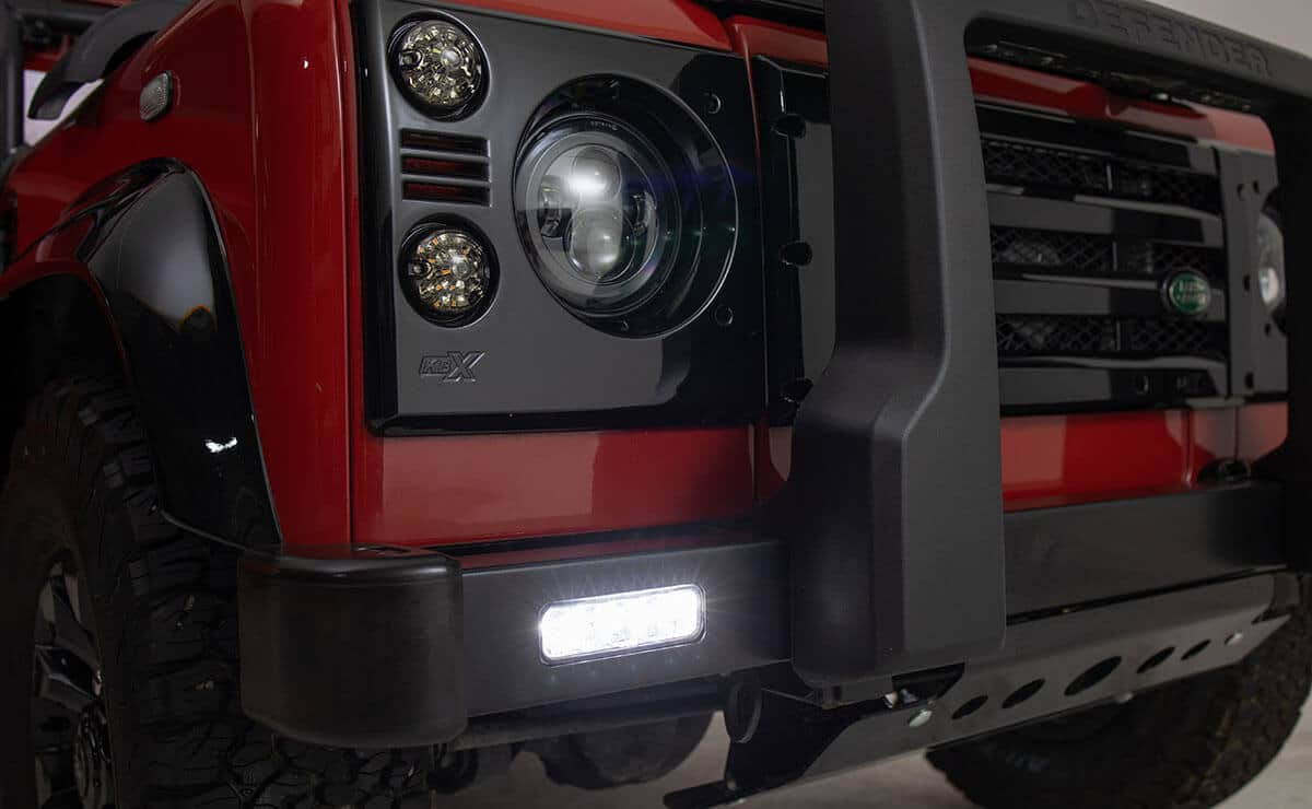 Helderburg Land Rover Defender D110 - Exterior Detail: LED Headlights and Bumper Lights