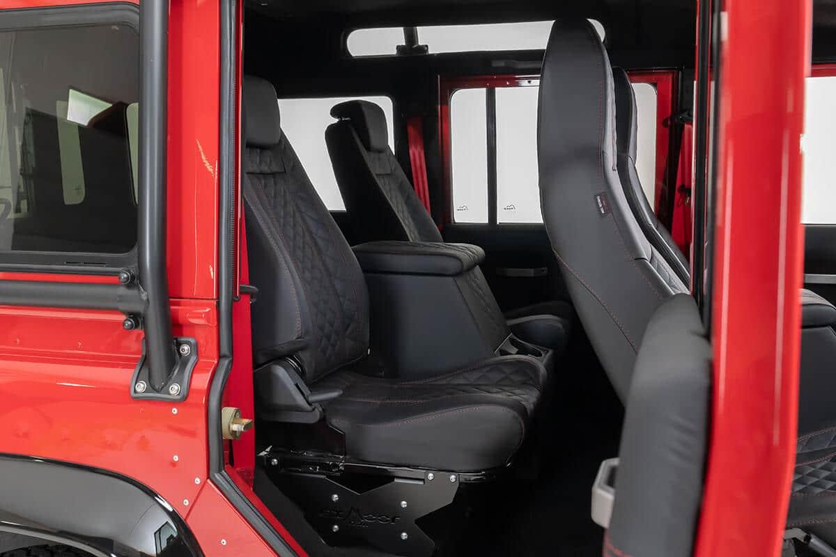 Helderburg Land Rover Defender D110 - Interior Details: Leather Second Row Seating