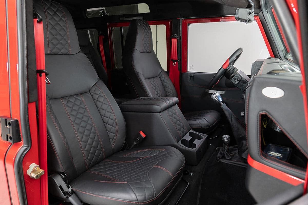 Helderburg Land Rover Defender D110 - Interior Details: Leather Front Seating