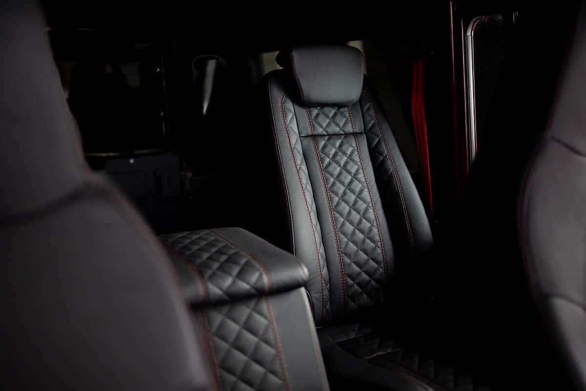 Helderburg Land Rover Defender D110 - Interior Details: Leather 2nd row Seating