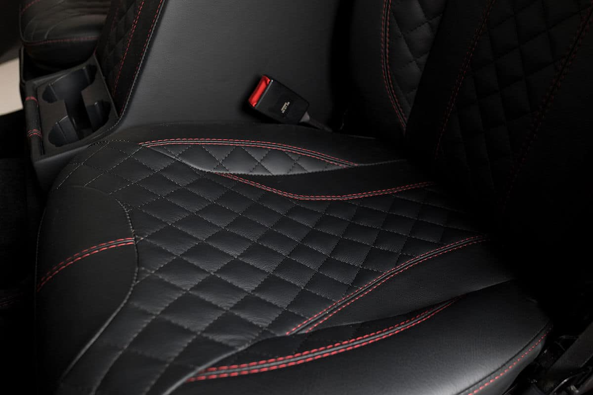 Helderburg Land Rover Defender D110 - Interior Details: Leather Seating with Stitching Detail