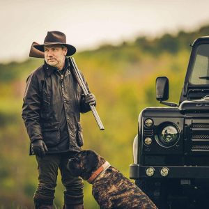Paul with Dog and Defender